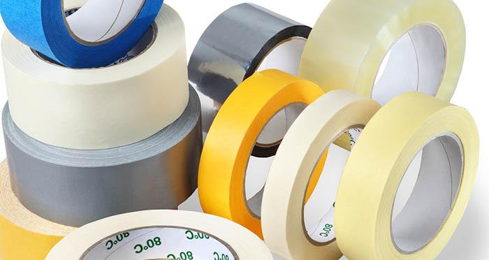 Các loại băng keo được phân chia dựa vào chất liệu